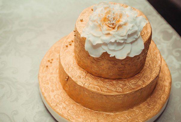 Торт в золотом - фото 3623449 Свадебные торты от Наталии Аржаковой