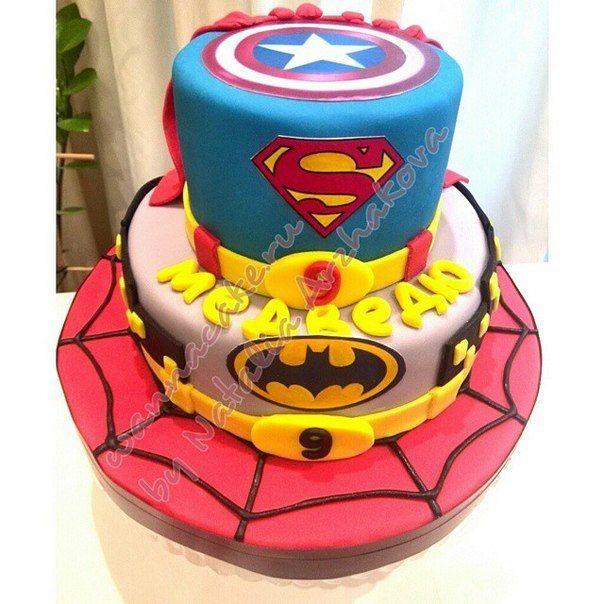 """Торт """"Супергеройский"""" - фото 3623495 Свадебные торты от Наталии Аржаковой"""
