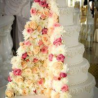 Декор торта живыми цветами. Тортик от Надежды Алябьевой
