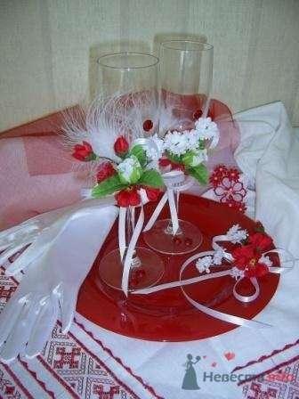 """Фото 72623 в коллекции свадебные бокалы и шампанское - """"Дом праздника"""" - свадебное оформление"""