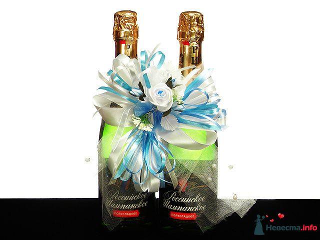 """Украшение для шампанского  - фото 84262 """"Свадебный сундучок"""" - свадебные аксессуары"""