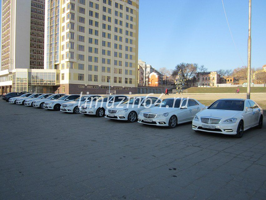 "КОРТЕЖ - Mersedes белые - фото 633561 Агентство ""Кортеж"" - аренда транспорта"