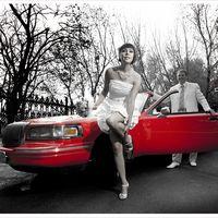 Красный кабриолет на свадьбу