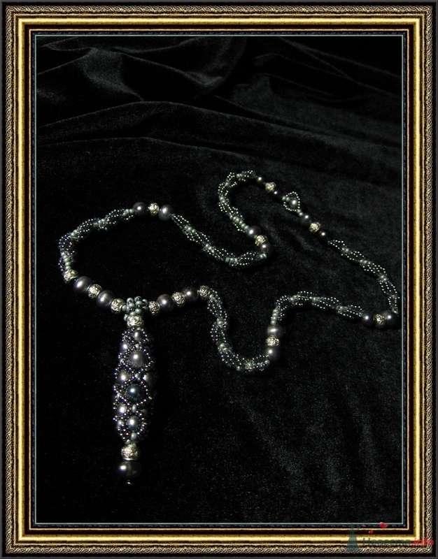 Плетеная бусина Чешский бисер, черный жемчуг - фото 79298 Невеста01