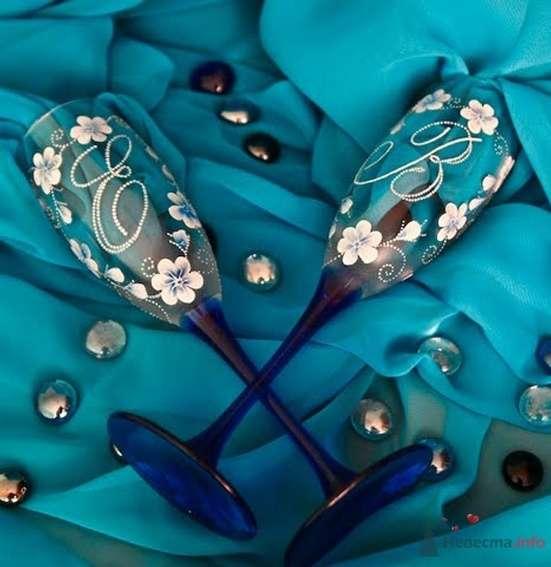 Фото 54469 в коллекции Ручная роспись свадебных бокалов - Дизайн-студия «Art-Infinity»