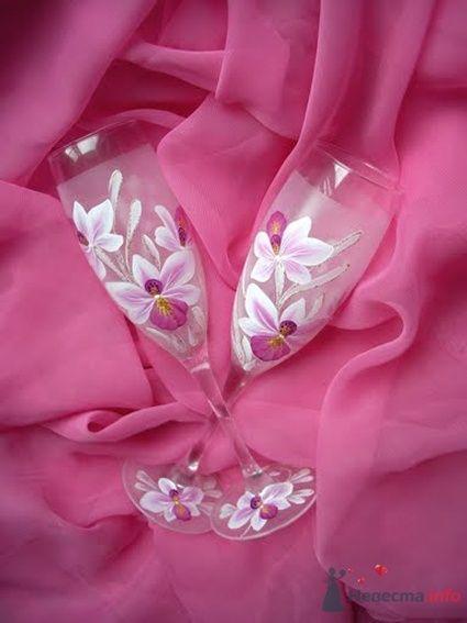 Фото 54475 в коллекции Ручная роспись свадебных бокалов - Дизайн-студия «Art-Infinity»