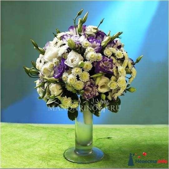Букет (эустома, хризантемы) - 3500 - фото 85193 IShka