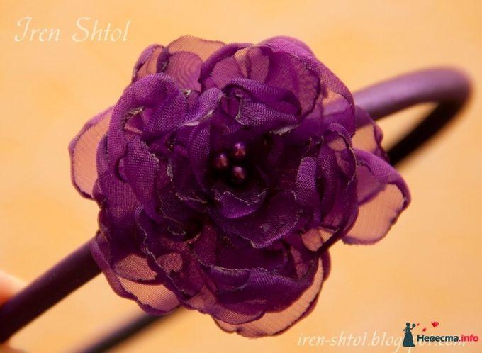Цветы из капроновой ленты