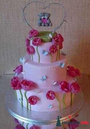 Фото 83099 в коллекции свадебные торты - Ленусечка