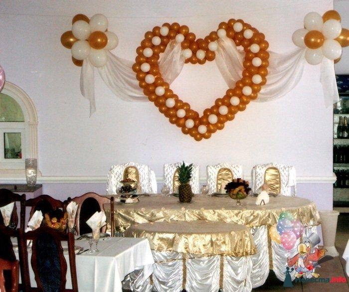 Сердце с драпировкой - фото 83740 Студия Наталии Шелухиной - свадебное оформление