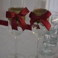 свадебные бокалы для винной свадьбы