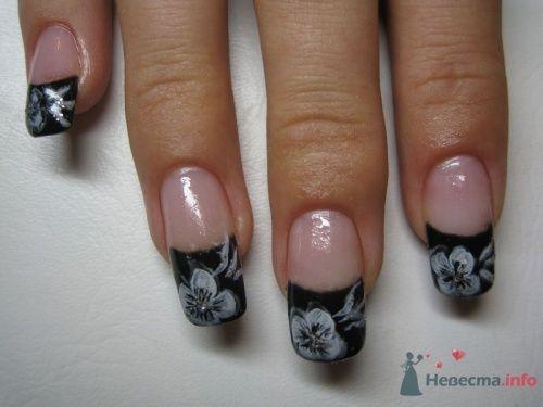 Черный френч - фото 6220 PerfectioNails - наращивание ногтей гелем и акрилом