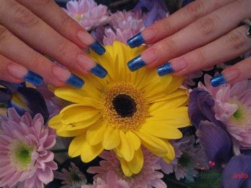 Синий френч - фото 6230 PerfectioNails - наращивание ногтей гелем и акрилом
