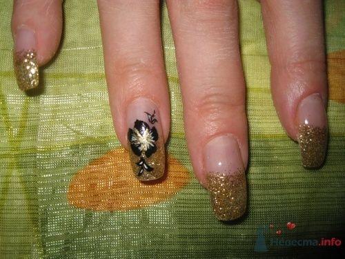 Золотой френч - фото 6234 PerfectioNails - наращивание ногтей гелем и акрилом