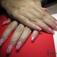 Розовые ногти (неращивание гелем)