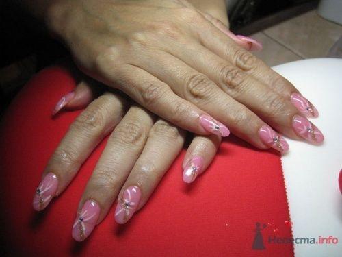 Розовые ногти (неращивание гелем) - фото 6236 PerfectioNails - наращивание ногтей гелем и акрилом