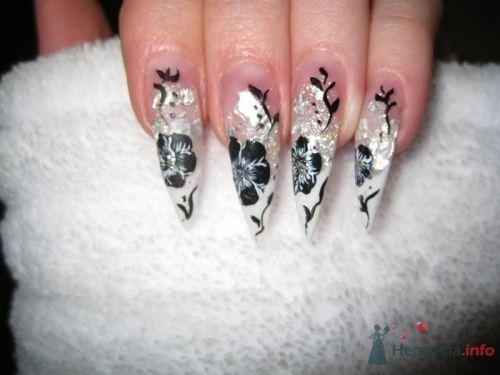 Белый френч на стилетах - фото 6240 PerfectioNails - наращивание ногтей гелем и акрилом