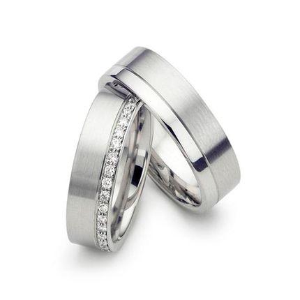 Широкие обручальные кольца с бриллиантами на заказ