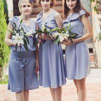 Подружки невесты. Платья разных фасонов в одном стиле