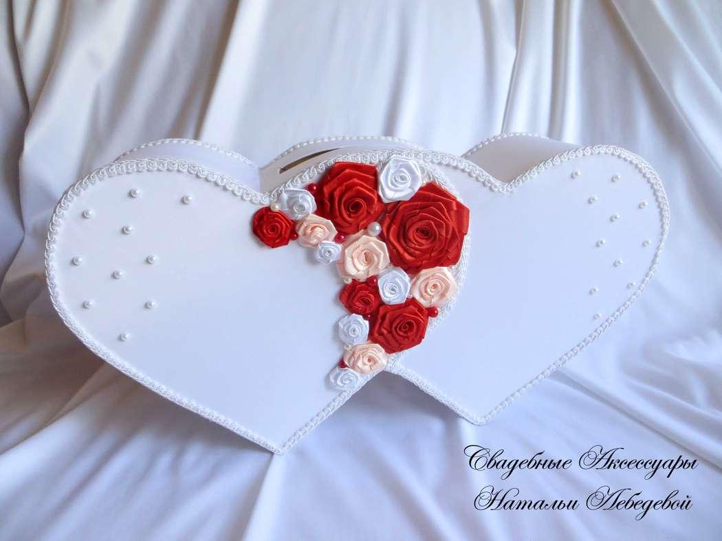 Казна на свадьбу в виде сердца своими руками