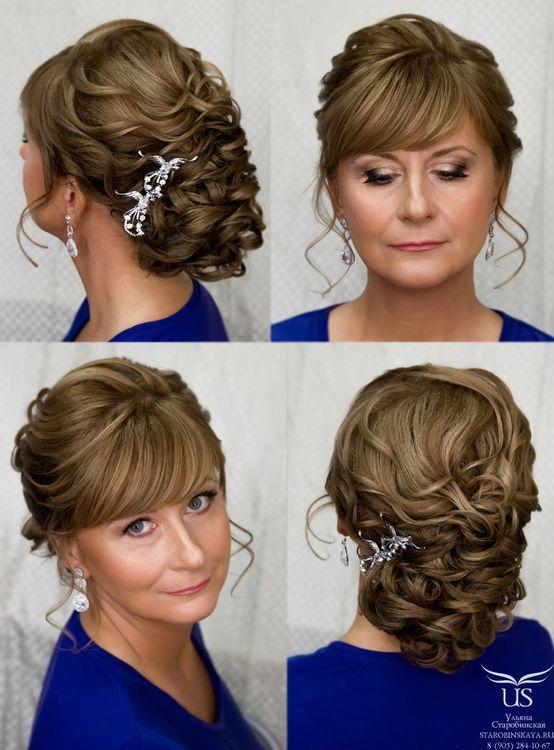 Причёски на длинный волос на свадьбу маме