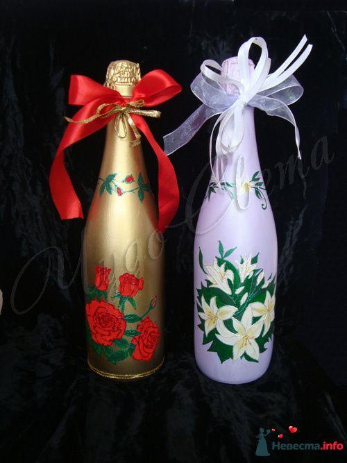 """Свадебное шампанское - фото 95448 Студия """"ЧудоСвета"""" - cвадебные аксессуары"""