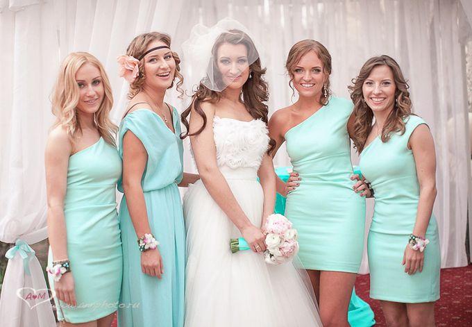 Фасон платьев подружек невесты