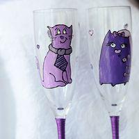 бокалы с кошками