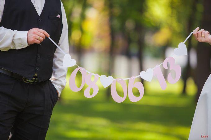 Свадебная растяжка с датой