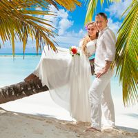 Свадебная фотосессия в Доминикане на острове Саона.