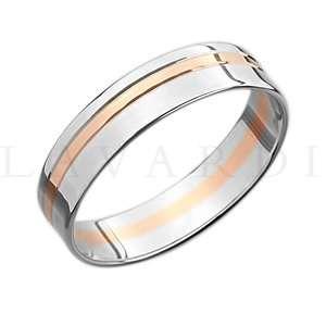 """Двусплавное обручальное кольцо. ширина 5мм. Цена 7-8 тыс рублей за кольцо (цена может быть больше или меньше взависимости от размера и веса) 585 проба. - фото 1234259 Салон обручальных колец """"Lavardi"""""""