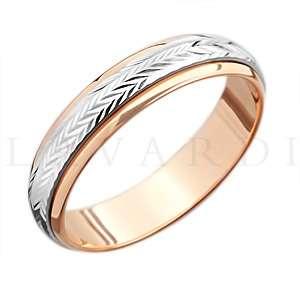 """Крутящееся обручальное кольцо. ширина 5мм. Цена 8 тыс рублей за кольцо (цена может быть больше или меньше взависимости от размера и веса) 585 проба. - фото 1234261 Салон обручальных колец """"Lavardi"""""""