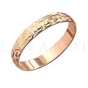 """Обручальное кольцо с алмазной гранью. ширина 4мм. Цена 4 тыс рублей за кольцо (цена может быть больше или меньше взависимости от размера и веса) 585 проба. - фото 1234285 Салон обручальных колец """"Lavardi"""""""