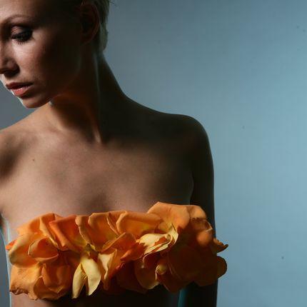 Платье из живых цветов - пошив