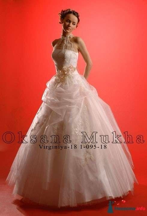 платье Вирджиния 18 Оксаны Мухи - 42-44 размер, прокат 4000р +5000р залог - фото 113698 Платье для Золушки - прокат свадебных платьев