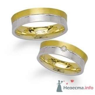 Обручальные кольца из белого и желтого золота - фото 9113 Интернет-магазин Miagold