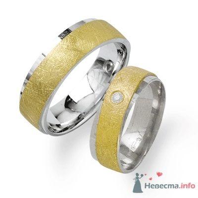 Обручальные кольца из белого и желтого золота - фото 9117 Интернет-магазин Miagold