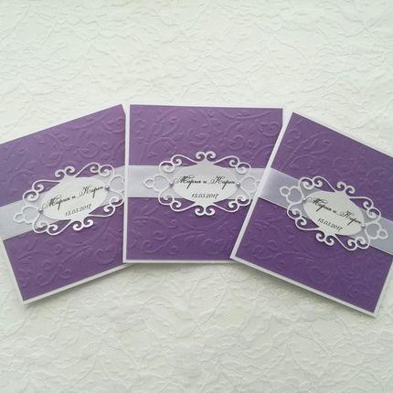 Свадебные приглашения, цена за 1 шт