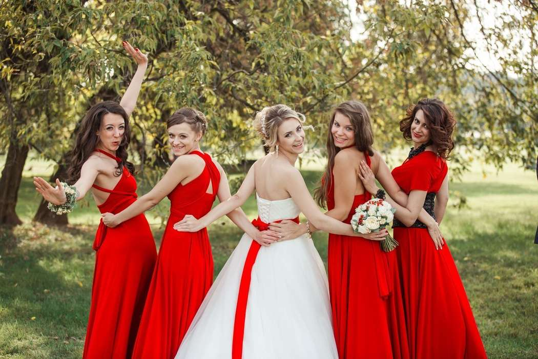 Образ на свадьбу к подруге осенью
