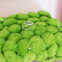 Подушечка для колец из живой зелени