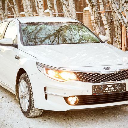 Новый автомобиль бизнес класса Kia Optima NEW белого цвета