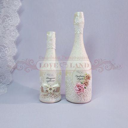 Декор свадебных бутылок - артикул 03