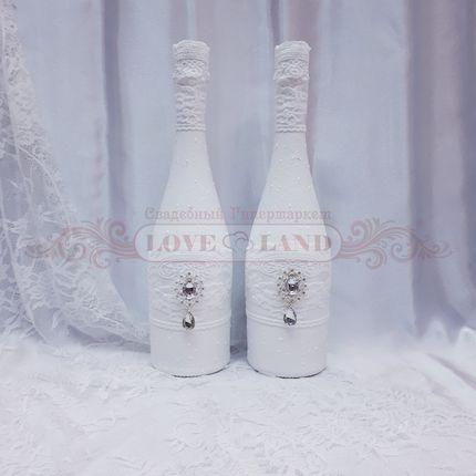 Декор свадебных бутылок - артикул 08