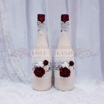 Декор свадебных бутылок - артикул 07