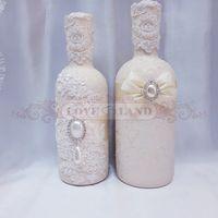 Декор свадебных бутылок - артикул 17