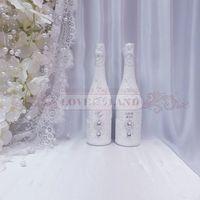 Декор свадебных бутылок - артикул 22