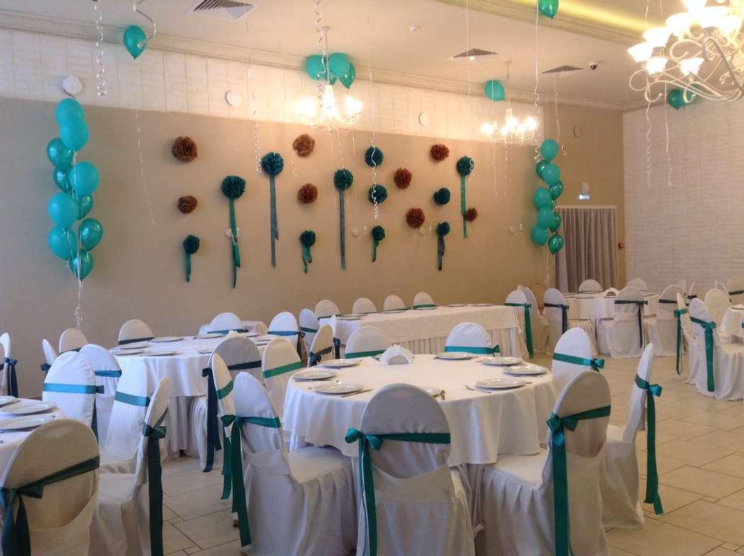 Оформление банкетного зала для свадьбы. - фото 2162004 Шарм - оформление шарами и тканями