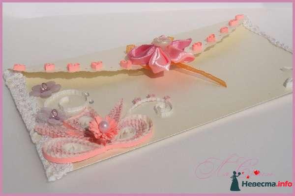 """Конверт для денег на свадьбу  """"Нежный перламутр"""" - фото 124389 Ля Стиль - цветы и подарки"""