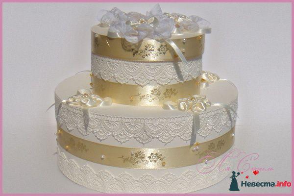 """Свадебная казна для денег Торт """"Очарование"""" - фото 124906 Ля Стиль - цветы и подарки"""