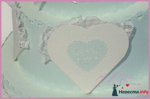 """Сундучок для  денег - Торт """"Кружевное сердце"""" - фото 126223 Ля Стиль - цветы и подарки"""